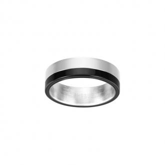 Phebus - Bague acier et céramique noire 15/0286