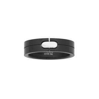 Phebus - bague acier noir 15/0282-IPN