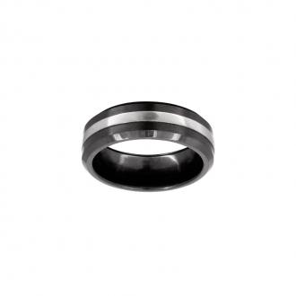 Phebus - Bague Acier et Céramique 15-0264-N