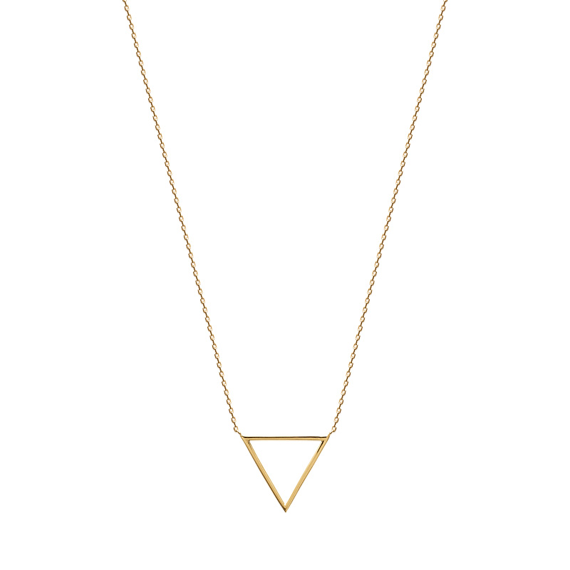 collier femme triangle