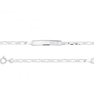 Bracelet Identité enfant Or blanc 375/000