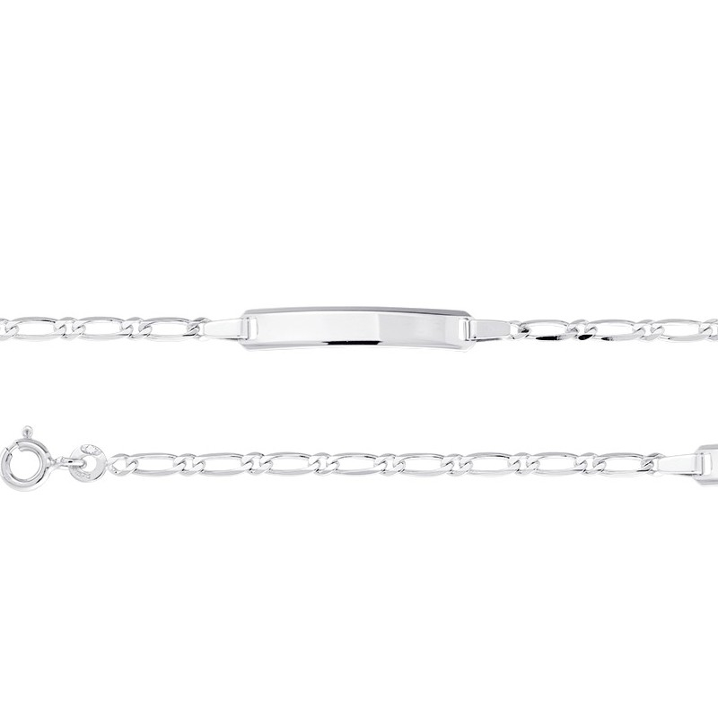 bracelet identite enfant or blanc 375 000