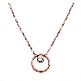 Collier Skagen Elin acier doré rose SKJ0850791