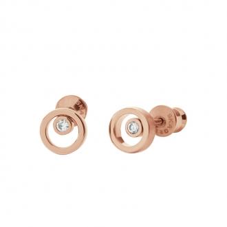 Boucles d'oreilles Skagen Elin acier doré rose SKJ0853791