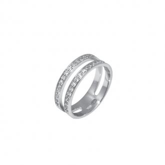 Bague double anneau Silver Pop Argent 925/000
