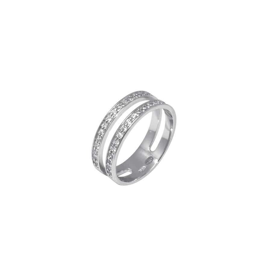 4e6c20f69bb Bague double anneau Silver Pop Argent 925 000 pour FEMME