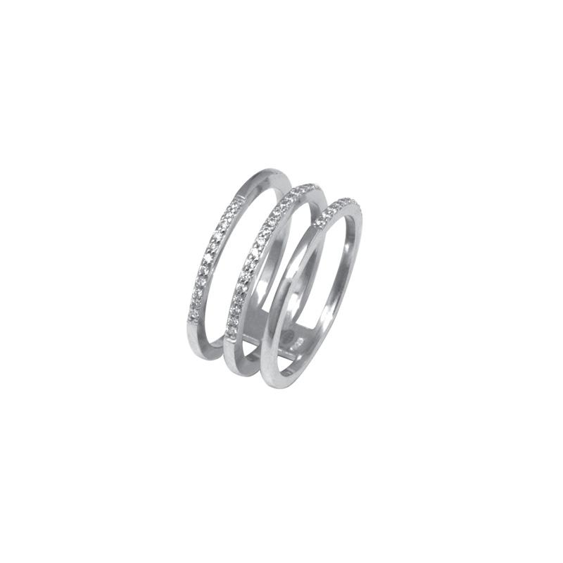 Bague Silver Pop Argent 925/000 triple anneaux