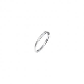 Bague Silver Pop anneau Argent 925/000 avec barre d'oxydes de zirconium
