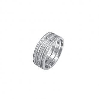Bague Silver Pop trois anneaux Argent 925/000 et oxydes de zirconium
