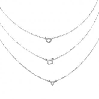 Collier Silver Pop Motifs Argent 925/000