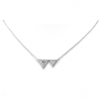 Collier Silver Pop Double Triangle Argent 925/000