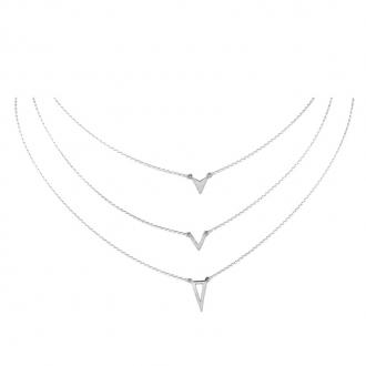 Collier Silver Pop Triple chaine Argent 925/000