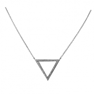 Collier Silver Pop Triangle Oxydes de Zirconium