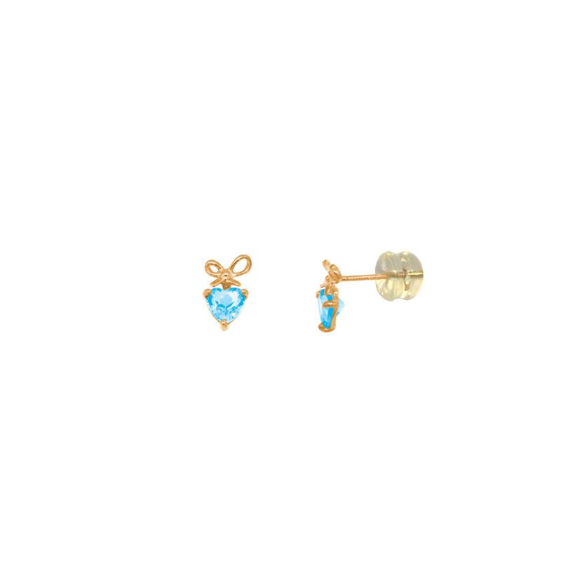 Boucles d'oreilles Carador fantaisie Or jaune 375/000 et Topaze