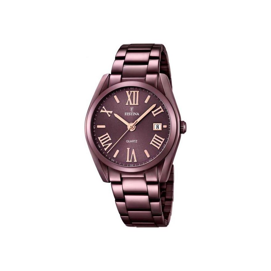 e3033fb7fa847 Montre Festina Boyfriend acier violet F16865/1 pour FEMME