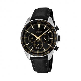 Montre Festina Timeless cuir noir F16844/4