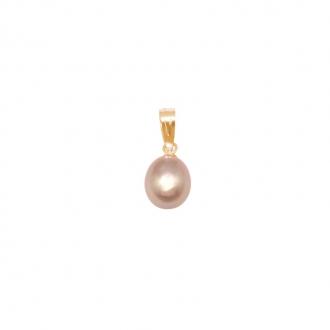 Pendentif Carador Or jaune 375/000 et perle rosée