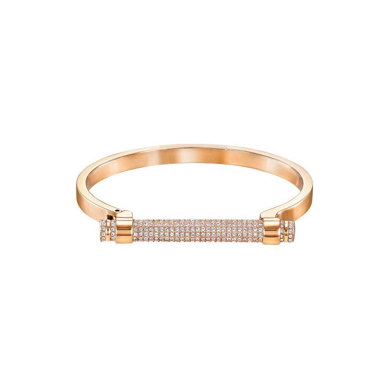 bracelet jonc swarovski friend dor rose taille s 5255656 pour femme. Black Bedroom Furniture Sets. Home Design Ideas