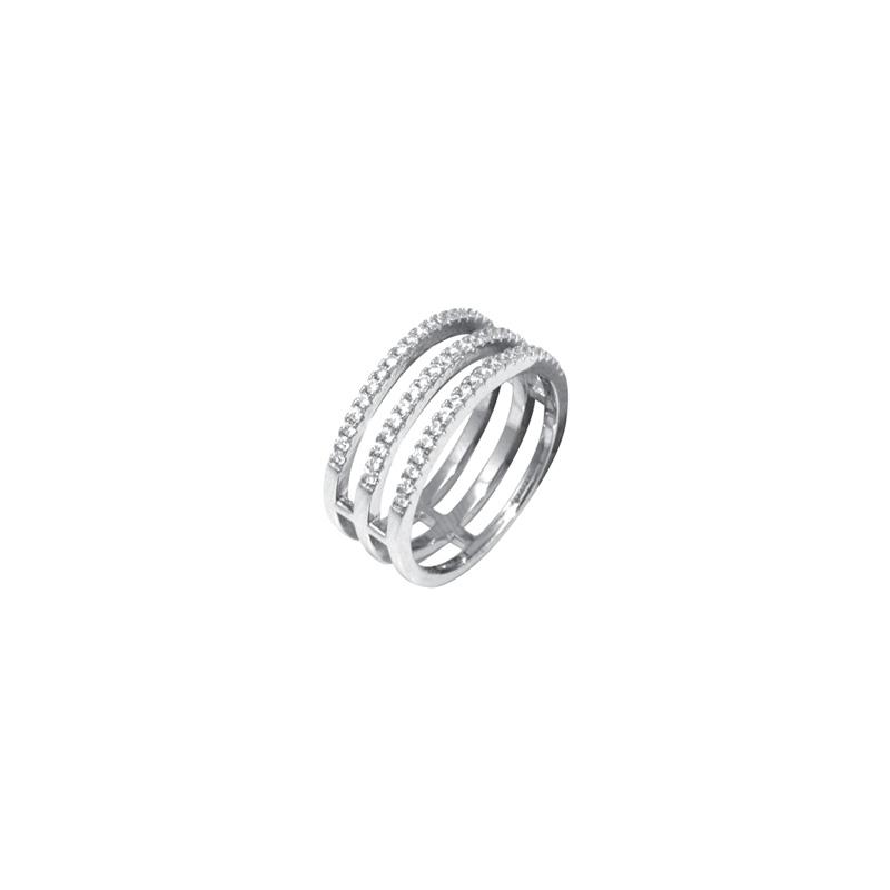 bague silver pop trois anneaux argent 925 000 et oxydes de. Black Bedroom Furniture Sets. Home Design Ideas