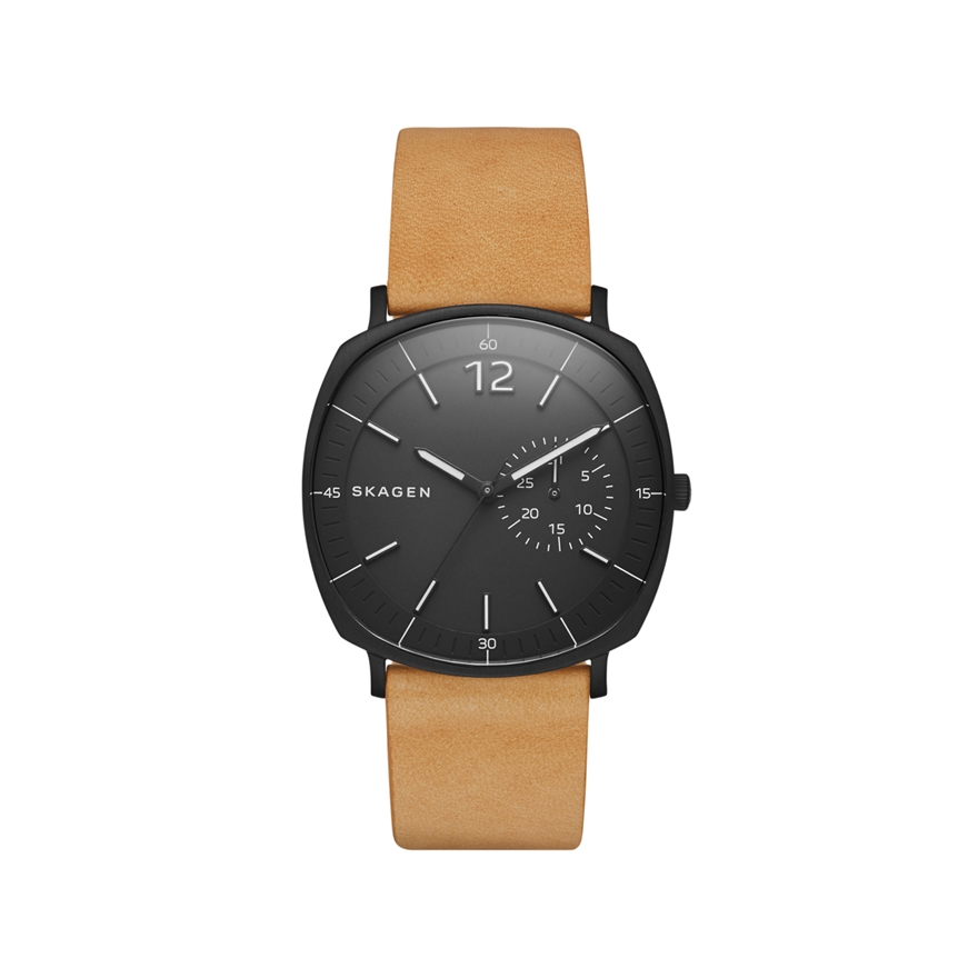 montre homme skagen rungsted marron clair skw6257 pour homme. Black Bedroom Furniture Sets. Home Design Ideas