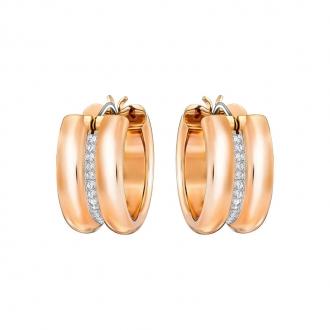 Boucles d'oreilles créoles Swarovski Fun doré rose 5224976