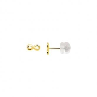 Boucles d'oreilles Carador infini or jaune 375/000