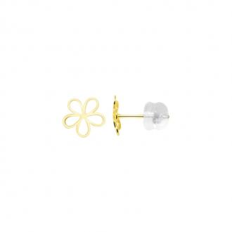 Boucles d'oreilles fleur Carador or jaune 375/000