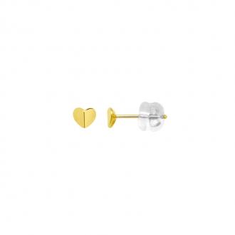 Boucles d'oreilles Carador cœur plein or jaune 375/000