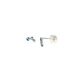 Boucles d'oreilles Carador Trilogie Topaze et or blanc 375/000