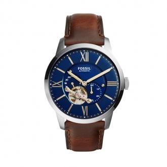 Montre Fossil Automatic marron cadran bleu nuit ME3110