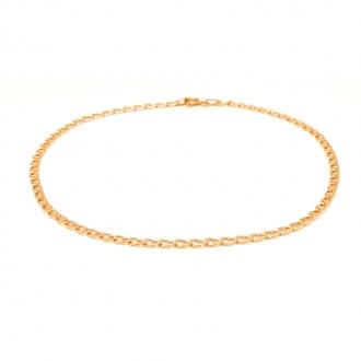 Chaine de cheville Carador en or jaune 375/000 maille marine
