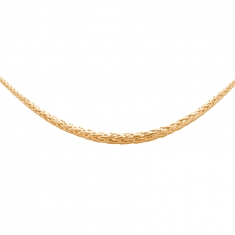 Collier chute Carador or jaune 375/000 maille palmier