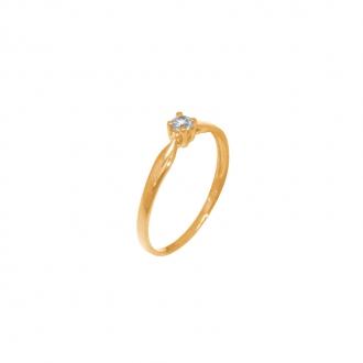 Bague Solitaire or jaune 375/000 4 griffes