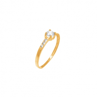 Bague Solitaire or jaune 375/000