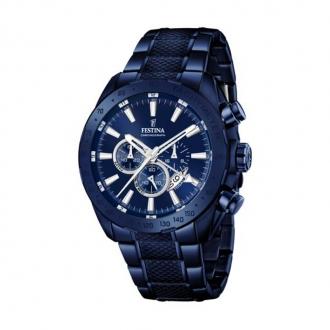 Montre Festina Prestige chronographe bleue F16887/1