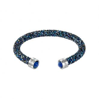 Bracelet jonc ouvert Swarovski Crystaldust bleu 5250068