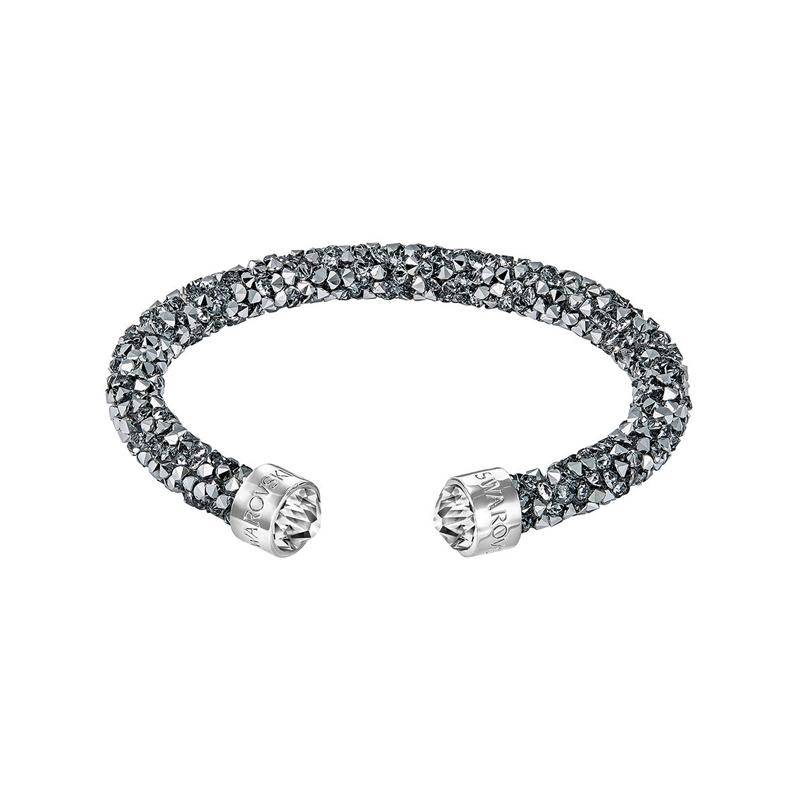 Bracelet jonc ouvert Swarovski Crystaldust gris 5250071