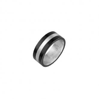 Bague Phebus anneau acier et céramique 15-0288