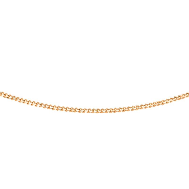 Chaine Carador maille forçat diamantée or jaune 375/000, 40 cm