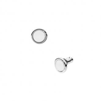 Boucles d'oreilles Skagen Sea Glass verre blanc SKJ0103040