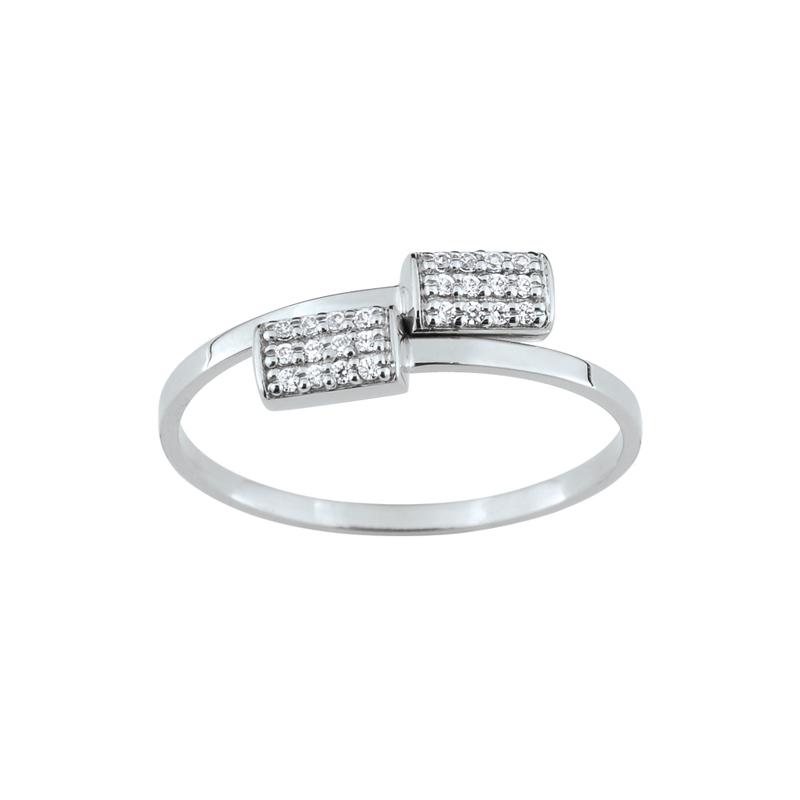 b15b72395 Bague LORE Promesse or blanc 375/000, oxydes de zirconium