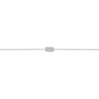 Bracelet LORE Promesse or blanc 375/000, oxydes de zirconium