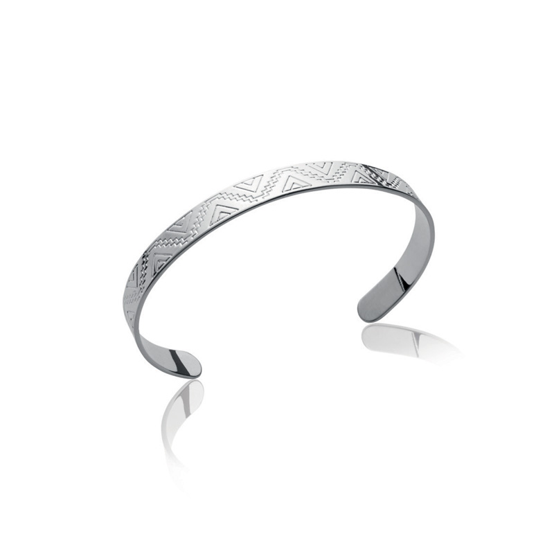 bracelet argent femme large