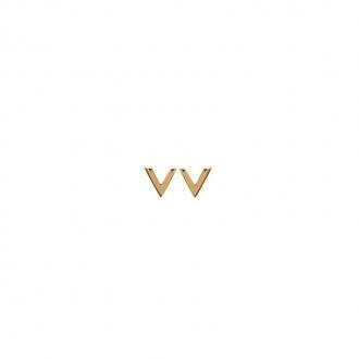 Boucles d'oreilles Carador forme V en plaqué or