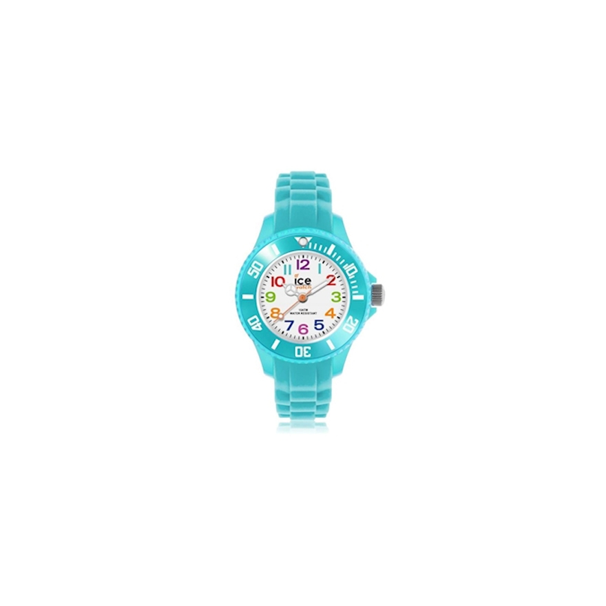 montre ice watch mini turquoise 012732 pour enfant bebe. Black Bedroom Furniture Sets. Home Design Ideas