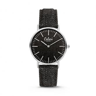 Montre Colori Denim bracelet noir 36 mm 5-COL413