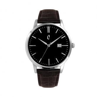 Montre Colori Coinnasseur cuir marron, cadran noir 40 mm 5-COL466