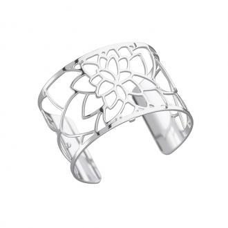 Bracelet manchette Les Georgettes Nenuphar Large finition argent brillant 70284021600000