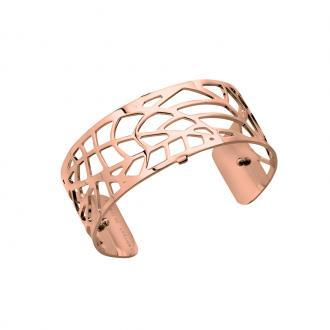 Bracelet manchette Les Georgettes Fougère Medium finition or rose brillant