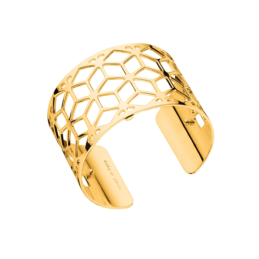 bracelet manchette les georgettes resille large finition or brillant. Black Bedroom Furniture Sets. Home Design Ideas